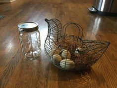 Antique egg gatherer- $5