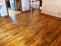 "Acacia 5"" Hand scraped Solid Wood installed by Derrick Harvey with Premiere Flooring"