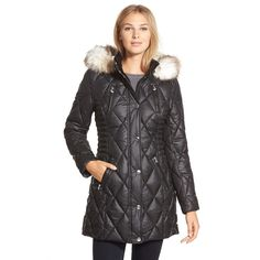 Stay warm and dry with this water resistant parka from LaundryBy Design. Featuring quilted detailing and faux fur trim on thehood, this coat is cozy and stylish. Lining: Fully-lined Closure: Zipper Nu