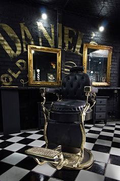 Top 80 Best Barber Shop Design Ideas - Manly Interior Decor Barber Shop Awesome Black And Gold Designs Beauty Salon Design Barber Shop Decor Modern Vintage Remodel Salon, Barber, and Spa Design and Decor ideas-. Barber Shop Interior, Barber Shop Decor, Salon Interior Design, Beauty Salon Design, Interior Decorating, Barber Shop Chairs, Industrial Salon Design, Design Salon, Spa Design
