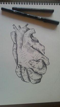 My drawing, hands, heart, tombow, art, artist, Illustration, dotwork, tattoo