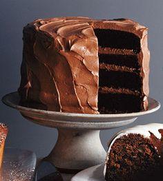 Mile high chocolate cake.