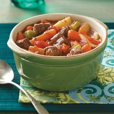 Traditional Beef Stew Recipe -The aroma of this classic beef stew is irresistible, making it impossible not to dig in the moment you walk in the door. —Rosana Pape, Hamilton, Indiana