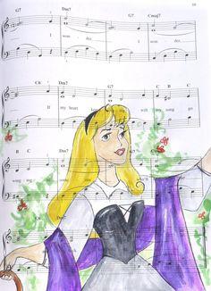aurora: music manuscript by *cattybonbon on deviantART