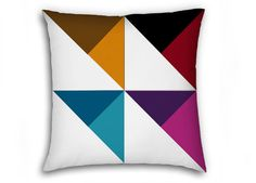 028 Decorative abstract geometric multicolor by DesignSewingArt