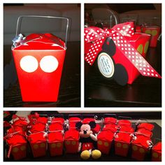 Mickey mouse favor boxes