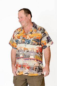 044b7c63d Feak Shirt for Men Retro Cars Print, Hawaiian Shirt, Retro Cars Shirt, Mens  Hawaiian Shirt, Retro Cars Print Shirt