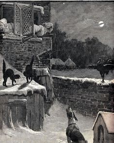 The Illustrated London News, Christmas 1887 Victorian Illustration, Children's Book Illustration, Book Illustrations, Vintage Christmas, Christmas Eve, Victorian Christmas, Christmas Illustration, Moon Art, Typography Prints