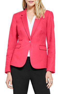 Vince Camuto One-Button Blazer in Guava Fruit at Nordstrom.com.