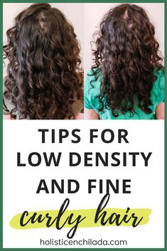 Sharing my top tips for low density fine curly hair - Get more volume and hide your scalp with these curly hair tips for fine curly hair or low density curly hair - thin curly hair, volume tips for curly hair, curly girl method, curly styling methods, 2c hair, 3a hair, 2c curls, 3a curls, wavy hair #curlygirlmethod #curlyhair #finecurlyhair #lowdensityhair Thin Wavy Hair, Wavy Hair Care, Thin Curly Hair, Natural Wavy Hair, Curly Hair Tips, Curly Hair Styles, Hair Thinning On Top, Curly Hair Man Bun, Style Curly Hair
