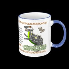 Valxart's 1970 2030 MetalDog zodiac born Capricorn Coffee Mug by ValxArt