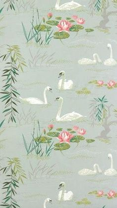 Nina Campbell swan lake i fancy for a room in my house