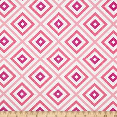 Moda Hubba Hubba Hypnotic Hubba Pink from @fabricdotcom  Designed by Me & My Sister Designs for Moda, this cotton print is perfect for quilting, apparel and home decor accents.  Colors include white and shades of pink.