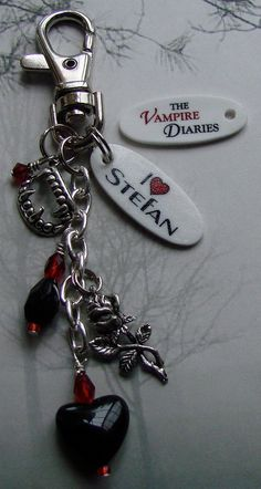 The Vampire Diaries I Heart STEFAN Keychain Purse by cindesign, $9.95