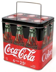 Coca-Cola Bottle Carrier Tin