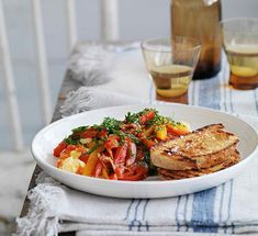 Australian Gourmet Traveller Spanish recipe for capsicums with scrambled eggs (Piperrada). Spanish Food, Char Grill, Grilled Bread, Egg Whisk, White Bread, Scrambled Eggs, Bruschetta, Cooking, Gourmet