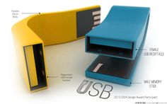 USB - Redesign a Pendrive by Roshan Hakkim, via Behance