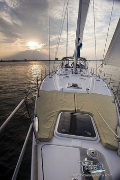 Sailing a Beneteau 49 Sailboat in Charleston by Dustin K. Ryan, via Flickr
