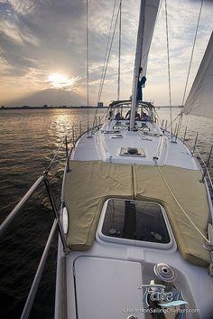 Sailing a Beneteau 49 Sailboat in Charleston by Dustin K. Ryan, via Flickr