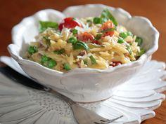 Creamy Orzo with Prosciutto and Peas