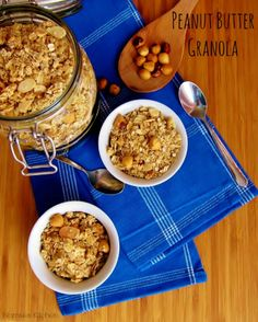 Peanut Butter Granola from Nomsies Kitchen | www.nomsieskitchen.com