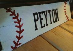 Personalized Baseball Signs Reclaimed Wood By RustedRestoration