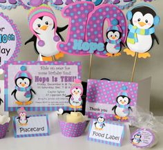 penguin theme birthday party