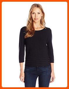 Calvin Klein Women's Short Sleeve Ribbed Sweater, Black, X-Large - All about women (*Amazon Partner-Link)
