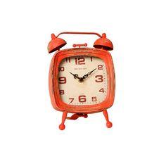 1f74825f47e Relógio de Mesa Cosmos Vermelho Envelhecido em Metal - 24x16 cm. Relógio  Retro ...
