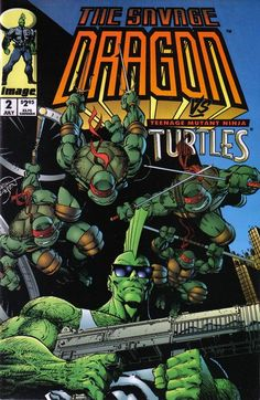 Savage Dragon and TMNT, I would have owned this in junior high..