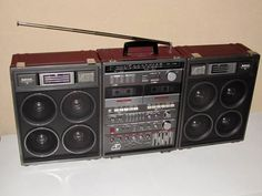 Vintage boombox ghettoblaster. National RX-A5.....................Please save this pin.   .............................. Because for vintage collectibles - Click on the following link!.. http://www.ebay.com/usr/prestige_online
