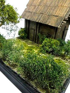 Armorama :: Add tree leaves tips & diorama base barn.