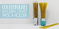 Sometimes the simplest things can be the most useful. These tall pasta containers come from our Contemporary Kitchen Craft Series and are so easy to make! Crafts With Glass Jars, Mason Jar Crafts, Diy Kitchen Storage, Kitchen Craft, Plastic Bottle Crafts, Fairy Doors, Diy Bed, Wall Art Designs, Hand Sanitizer