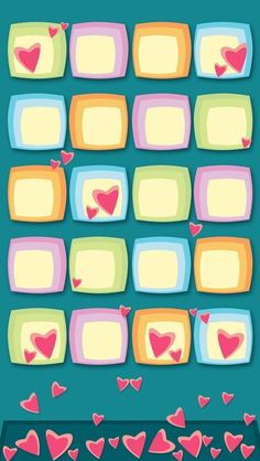 ●❥Pretty Icons iPhone Background●❥