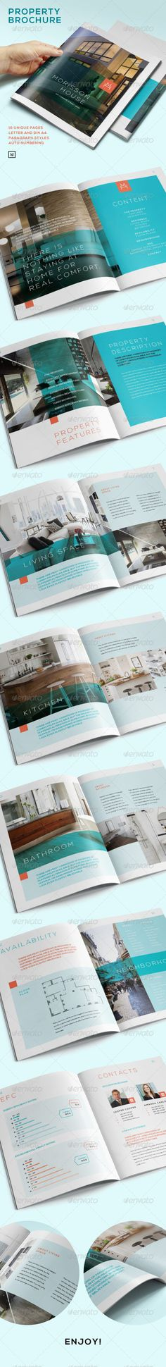 Coolest InDesign Property Brochure Template • Only available here ➝ http://graphicriver.net/item/property-brochure/7223118?ref=pxcr