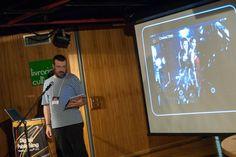 Carlos Neri, Diretor de Arte da Editora Abril, apresenta estudo de caso da Revista Veja nas Olimpíadas. Foto: Guido Peters.