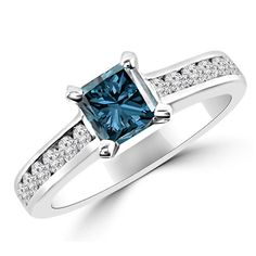 Jewelry Point - 1.69ct VS1 Princess-Cut Fancy Blue Diamond Engagement Ring, $4,170.00 (https://www.jewelrypoint.com/1-69ct-vs1-princess-cut-fancy-blue-diamond-engagement-ring/)