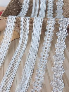 Antique French Lace Trim Edging Design Costume Dolls Sewing Per 1 Yard