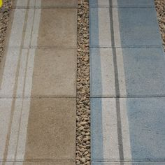 Stained concrete pavers