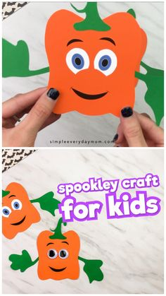 This Spookley the square pumpkin craft for kids is a simple and fun Halloween activity for children. It's perfect for kids to make at home or for school. Easy enough for preschool, kindergarten and elementary students. #simpleeverydaymom #spookley #kidscrafts #craftsforkids #halloween #halloweencrafts #halloweencraftsforkids #preschool #kindergarten #preschoolcrafts #kidsandparenting #kidsactivities
