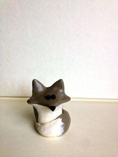 Wolf/Husky Figurine Miniature (Direwolf)- Polymer Clay. $10.00, via Etsy.