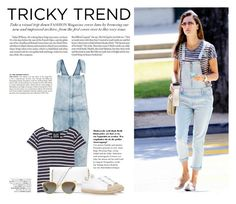 """""""Tricky Trend: Overalls"""" by katsin90 ❤ liked on Polyvore featuring Current/Elliott, NLST, MICHAEL Michael Kors, Ray-Ban, Alexander Wang, Avenue, McGinn, TrickyTrend and overalls"""