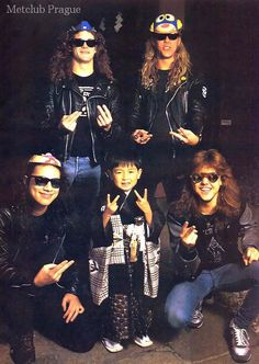 metallica in Tokyo in November 1986 That's is SO ADORABLE!