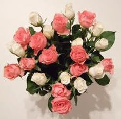 15 pink and roses bunch wrapped beautifully.