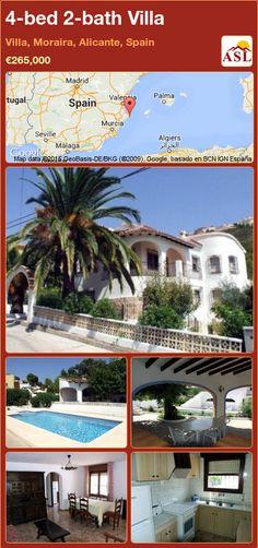 4-bed 2-bath Villa in Villa, Moraira, Alicante, Spain ►€265,000 #PropertyForSaleInSpain