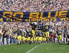 University of Michigan Football Ticket Giveaway! Michigan Wolverines Football, Ohio State Vs Michigan, Michigan Go Blue, University Of Michigan, Michigan Travel, Football Ticket, College Football Teams, Football Stadiums, Sports Teams