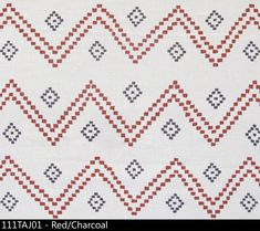 --Description-- An airy, loose chevron design based on a custom embroidery from India. --Details-- Content: Linen Width: Repeat: 48 H x 25 V Textile Prints, Textiles, Peter Dunham, Spanish Home Decor, Black Throw Pillows, Accent Pillows, Red Home Decor, Pillow Forms, Custom Embroidery