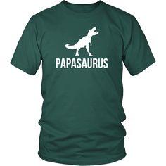 Papasaurus Father's Day T Shirt