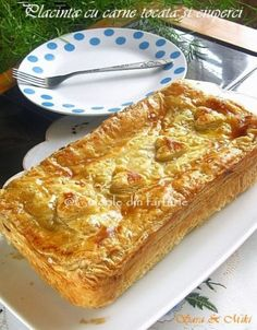 Romanian Desserts, Romanian Food, Beef Recipes, Cake Recipes, Cooking Recipes, Cooking Pasta, Puff Pastry Recipes, Pastry And Bakery, Desert Recipes