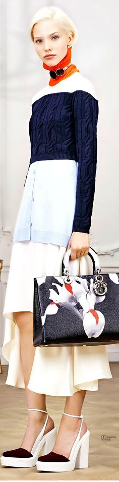 Christian Dior ● Pre-Fall 2014 v Dior Fashion, Couture Fashion, Love Fashion, Womens Fashion, Fashion Trends, John Galliano, Christian Dior, Nautical Fashion, Nautical Style